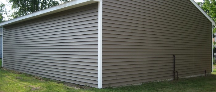Backyard property Vinyl Siding