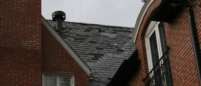 Broken Roof From Storm