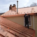 Installation of Copper roofing