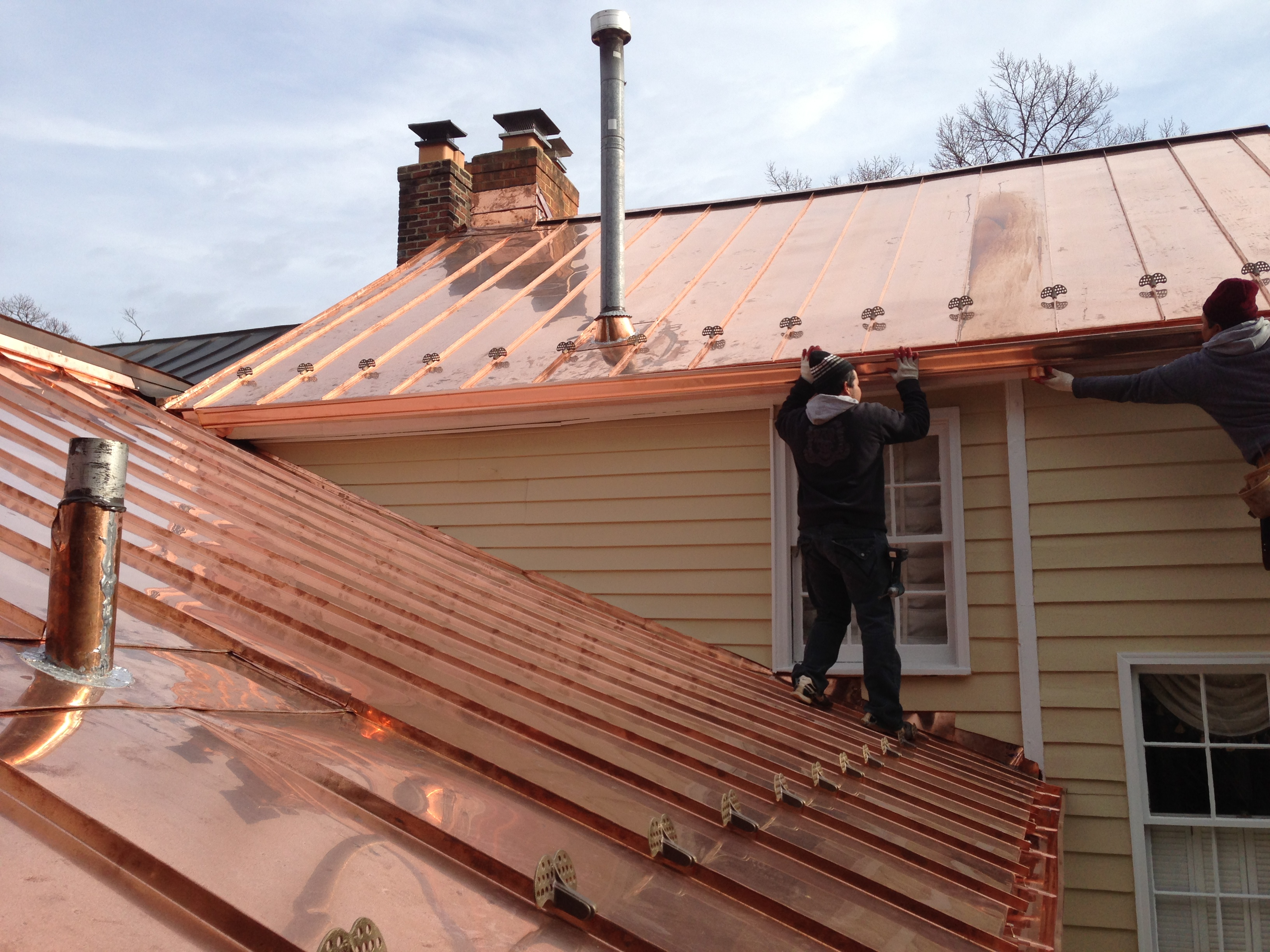 Lovely Installation Of Copper Roofing