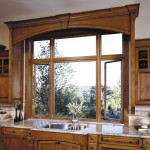 Kitchen With Wood Vinyl Windows