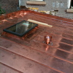 Residential Copper Roofing Example with Skylight