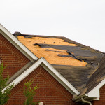 Roof damage from storm