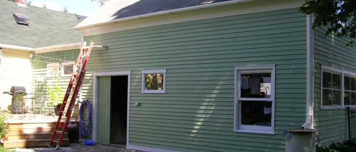 Small House with Siding made from Vinyl