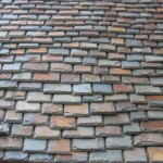 Multi-colored slate roofing