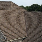 Brand new house with asphalt shingle roofing