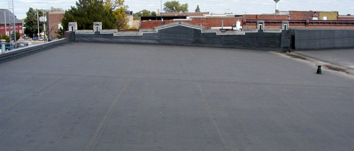 EPDM Roofing Example In Progress