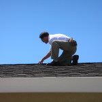 Roofing inspector in Virginia at work