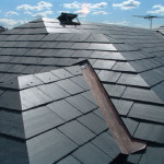 Gorgeous slate roof with outlines